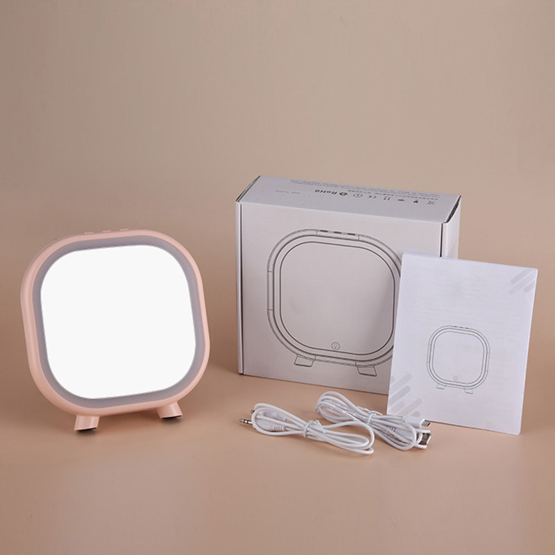Dcloud Creation Make Up Mirror Bluetooth Audio Touch LED USB Table Lamp Desk Light Eyesight Protection for Study Dormitory 2Pack