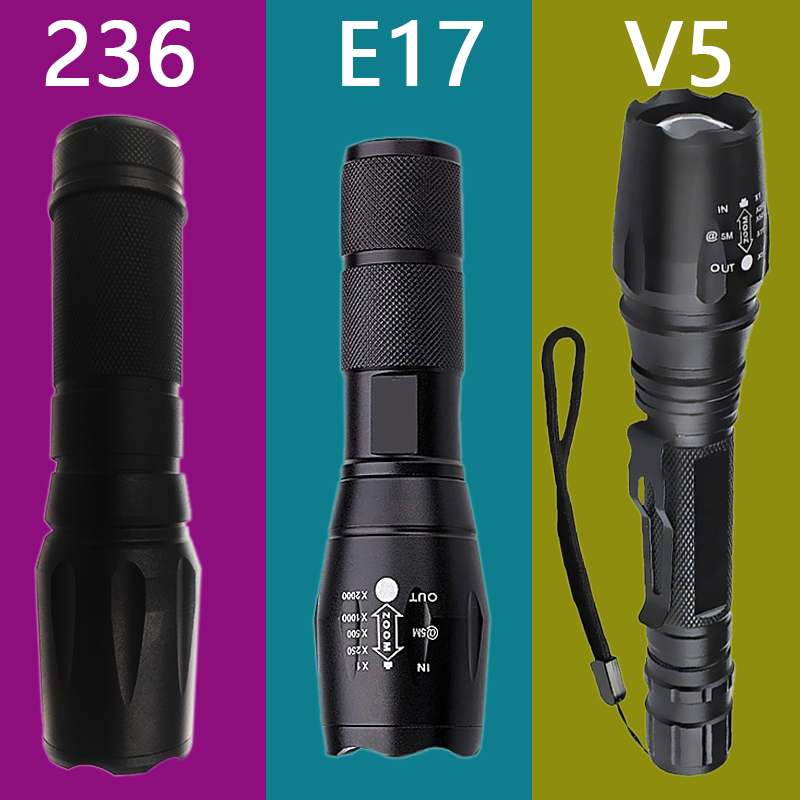 Litwod z30 XM-L T6 4000LM Aluminum Waterproof Zoomable LED Flashlight Torch light for 18650 Rechargeable Battery or AAA