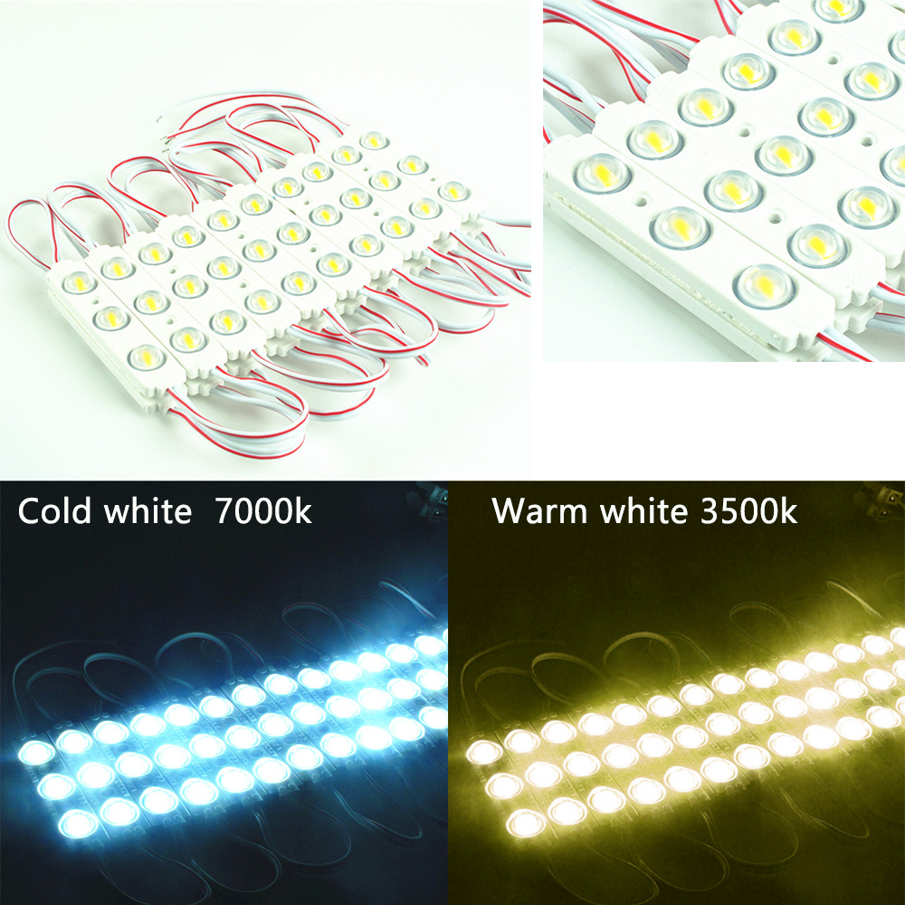 20PCS Injection LED Module 5730 3LEDs with Lens Super Bright IP65 Waterproof 5730 LED backlight modules Advertising Light box