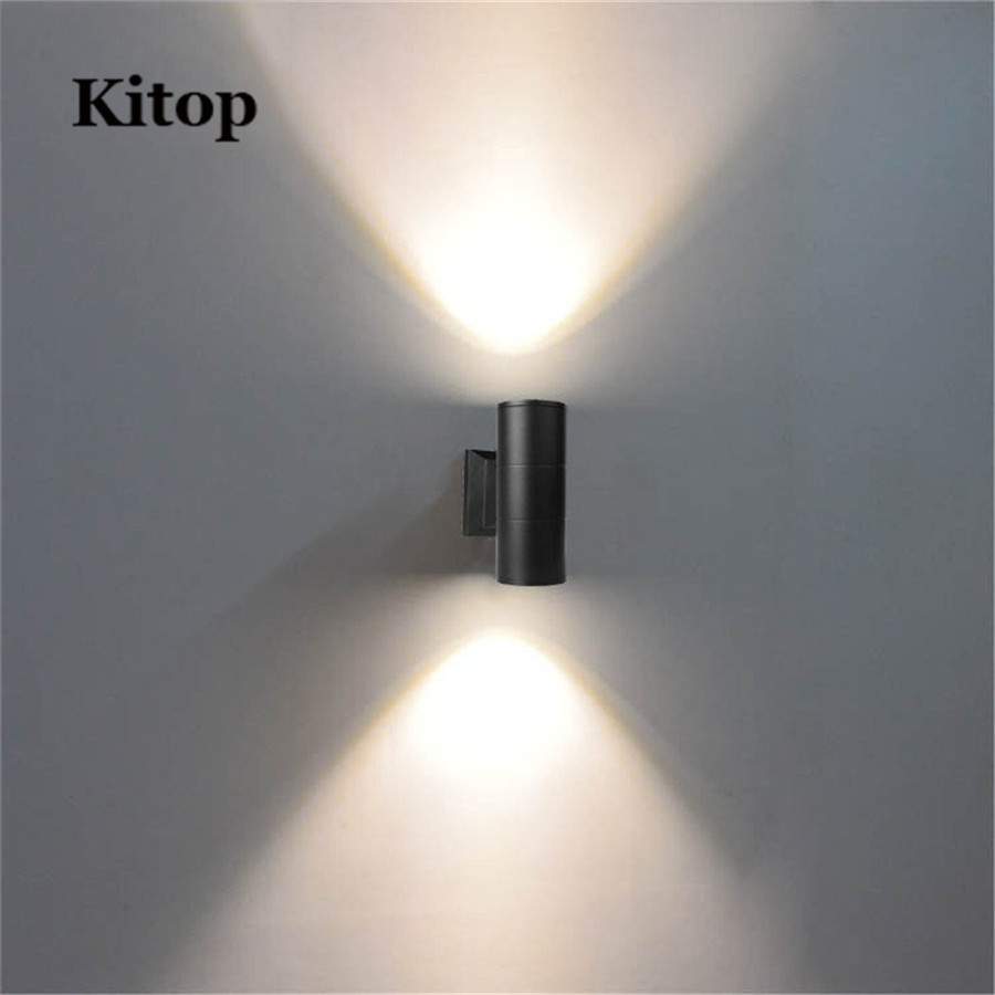 Kitop AC220V 6W COB Waterproof LED Wall light High quality Led Sconces Modern Home Lighting Outdoor lamp Decoration