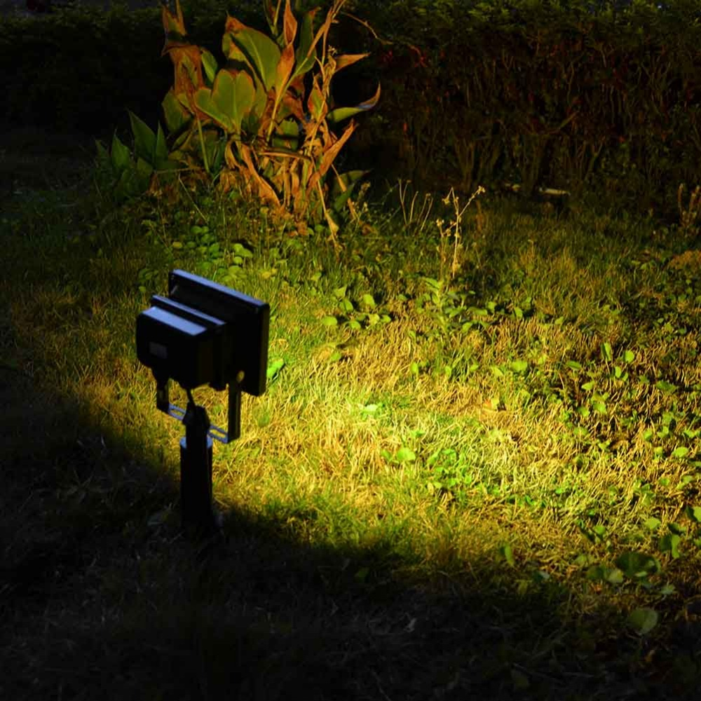Solar Powered Remote Control Garden Floodlight LED 20 RGB 5050LED Garden Security Light Waterproof Landscape Outdoor Panel Lamp