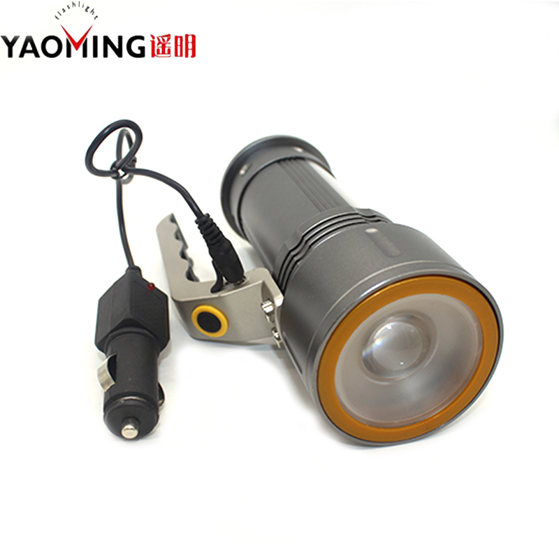 Led Searchlight 10W High Power Led Flashlight Waterproof Linternas Portable Hand Lamp Light With 18650 Battery And Charger