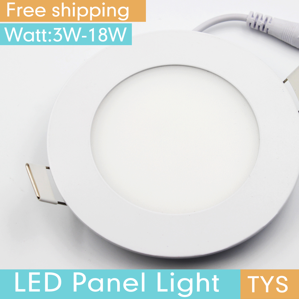Led Panel Light 3W 4W 6W 9W 12W 18W Round Panel LED Light Ceiling Lamps For The Garden Led Dowmlight 110V AC 220V Ceiling Light