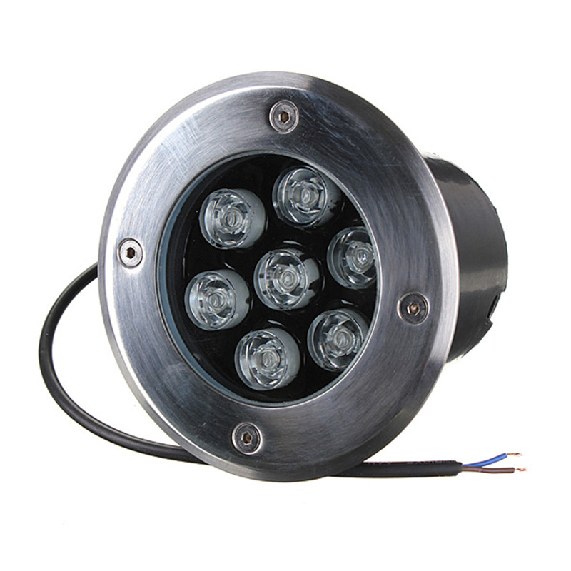 7W LED Underground Lamp Park Engineering Lighting Waterproof Embedded Round High Power RGB Buried Stainless Steel Outdoor Lights
