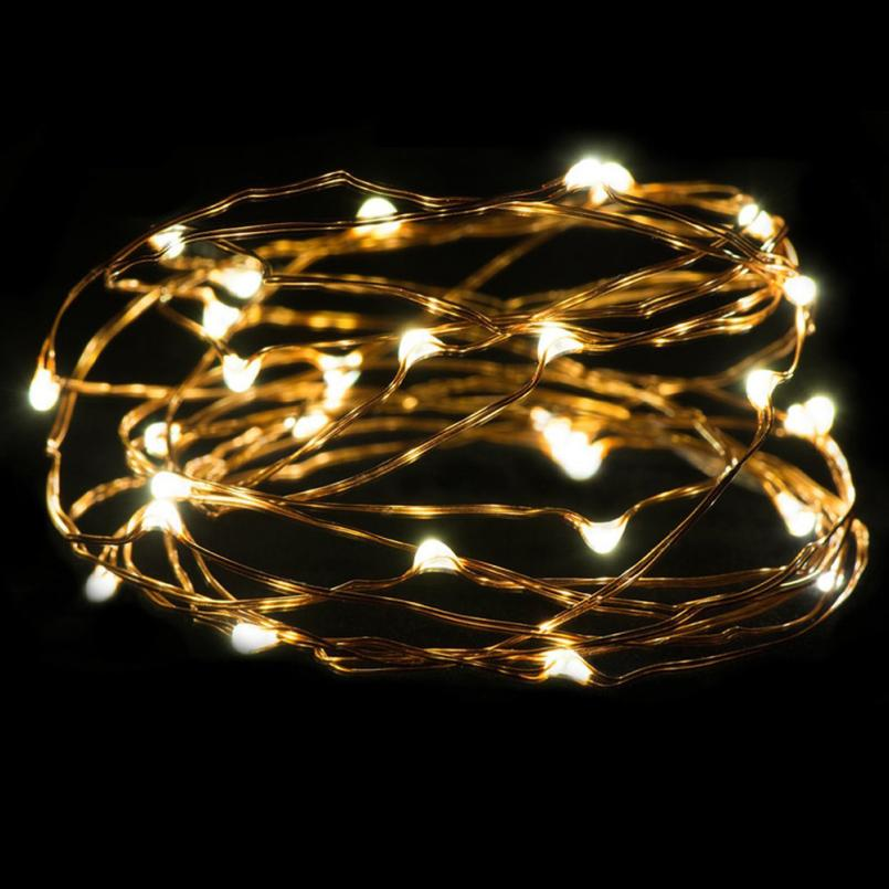 2017 New 3M 30LED Button Cell Powered Silver Copper Wire Mini Fairy String Lights 531