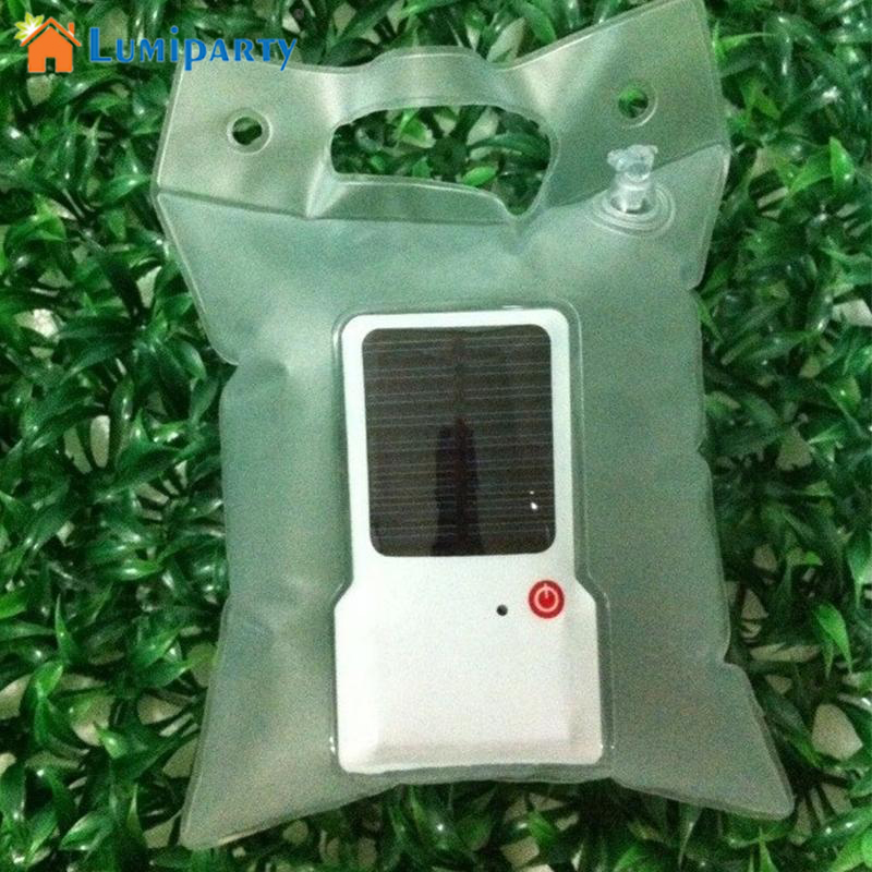 Lumiparty IP65 Waterproof Solar Light Portable Solar Lamp Inflatable Foldable PVC Bag LED Camping Light Emergency LED Lamp