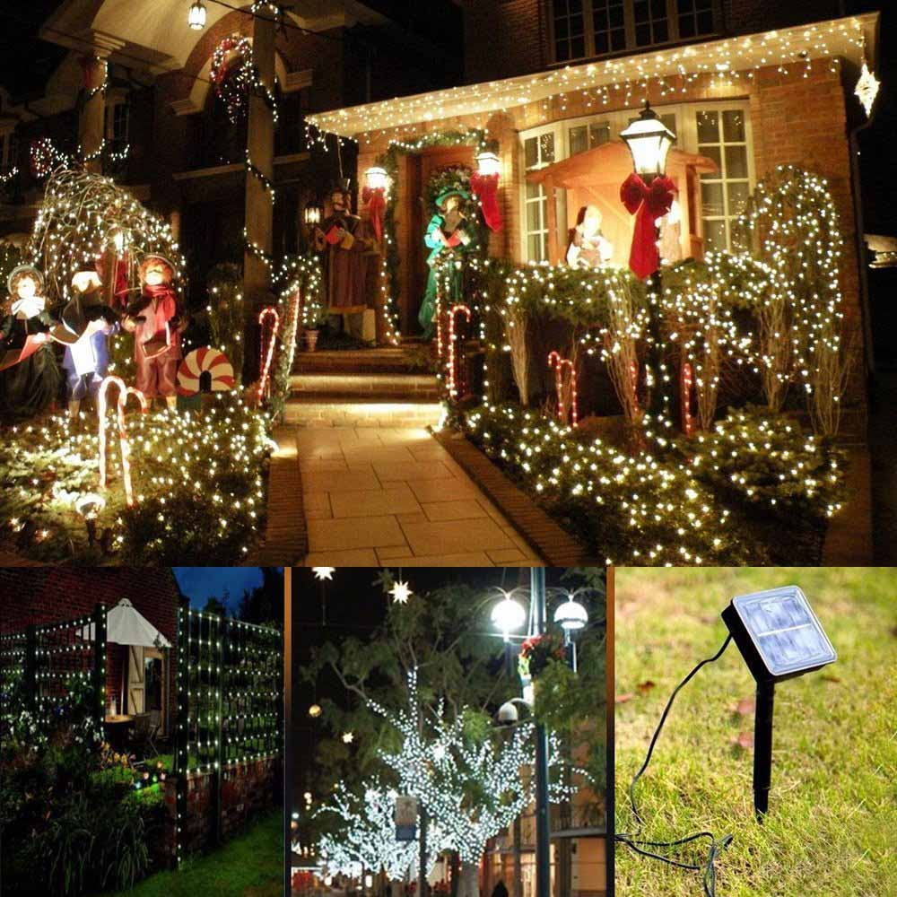 Lightme 21M 200 LEDs Solar Strips Waterproof Fairy String Light Home Outdoor Lighting 8 Modes Garden Party Tree Decoration Light