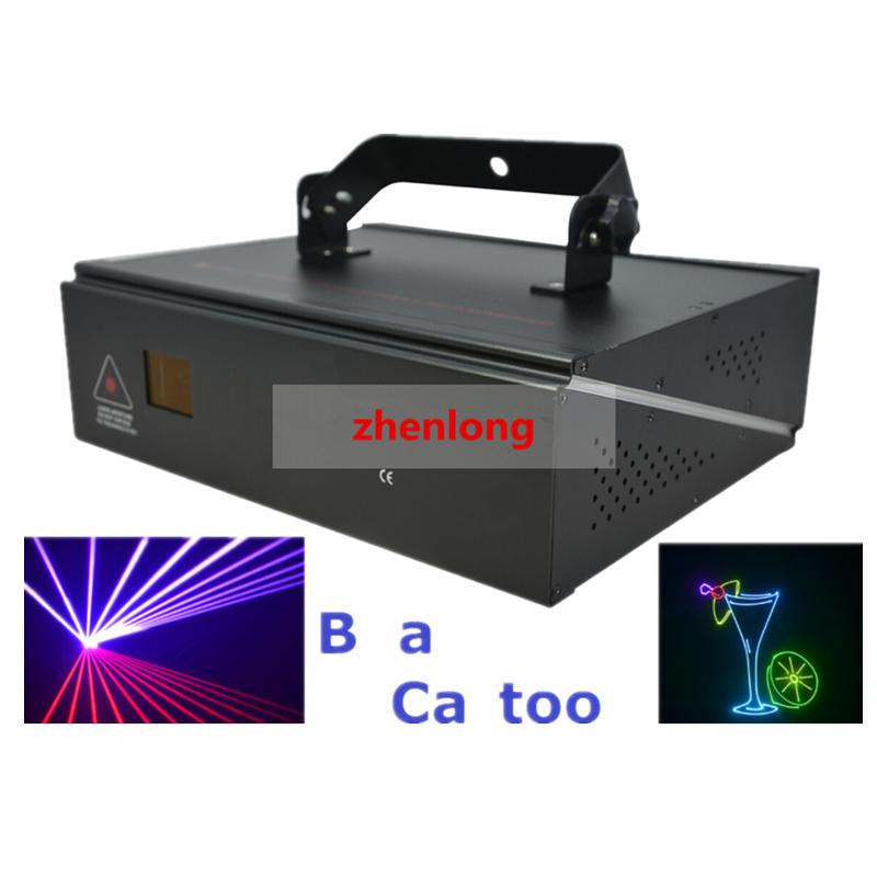DMX+ILDA+2D Multi Color 1W RGB Beam Animation Laser Light