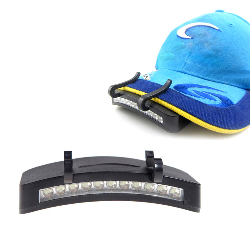 LED Clip-On Caplight White Light Lamp Cycling Hiking Camping Cap Light Night Fishing Repair Car Outdoor Caplights