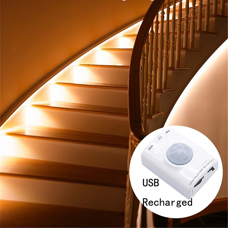 Motion Sensor Led Light Motion Activated Bed Light LED Strip Sensor Night Light Illumination with Automatic Shut Off Timer