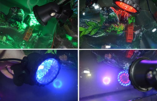 1 pin 4 36LED RGB Submersible Spotlight Underwater Colorful Landscape light Lamp Outdoor lighting for Aquarium Tank Pool Garden
