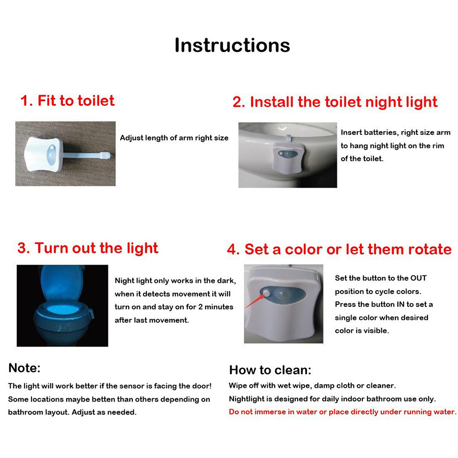 16color 8 color toilet light (1)