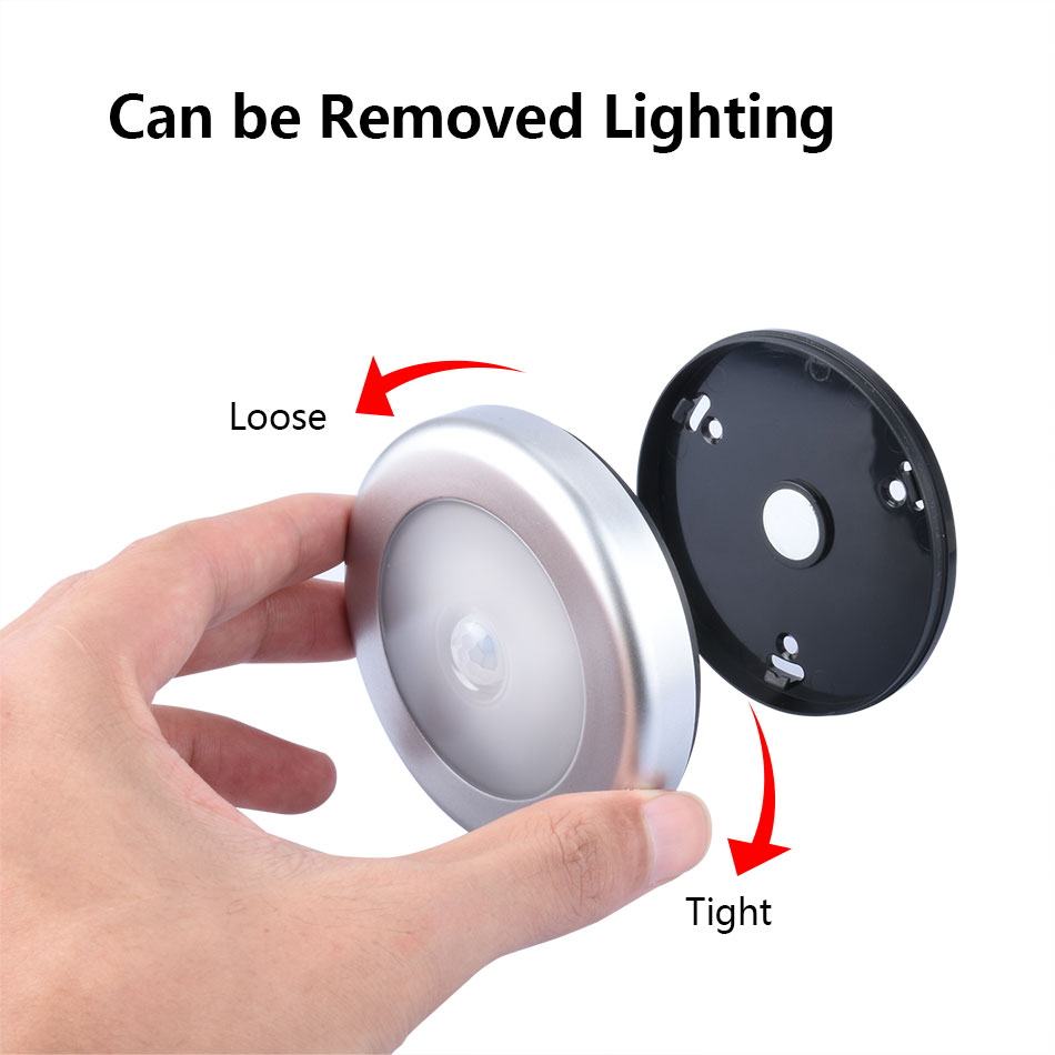 5 pcs/lot Magnetic LED Night Light Infrared IR Bright Motion Sensor Lamp Activated Wall Lights Auto On/Off Battery Operated