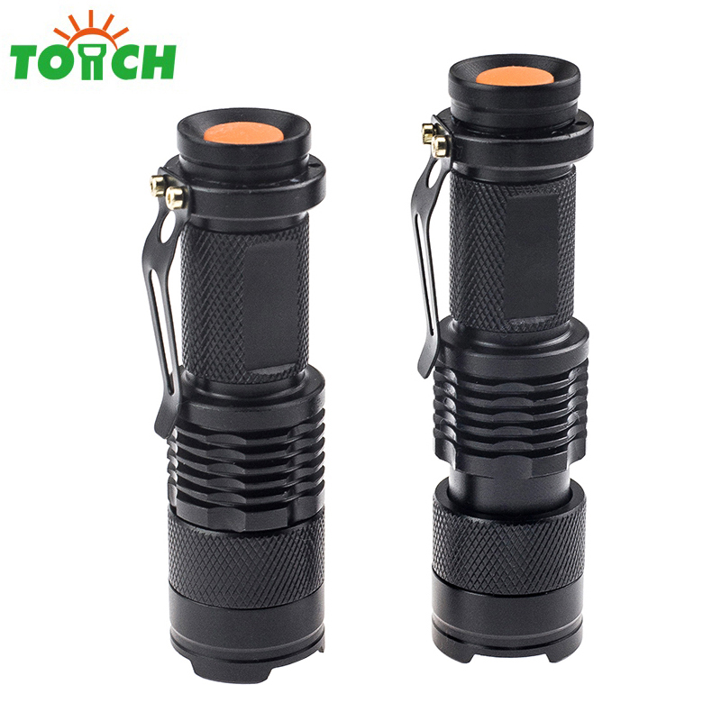 TOACH Led Lanterna 14500/AA Cree xml Q5 Mini Led Flashlight Lamp Zoom Focus Pen Light Military Torch Hand Household Lighting