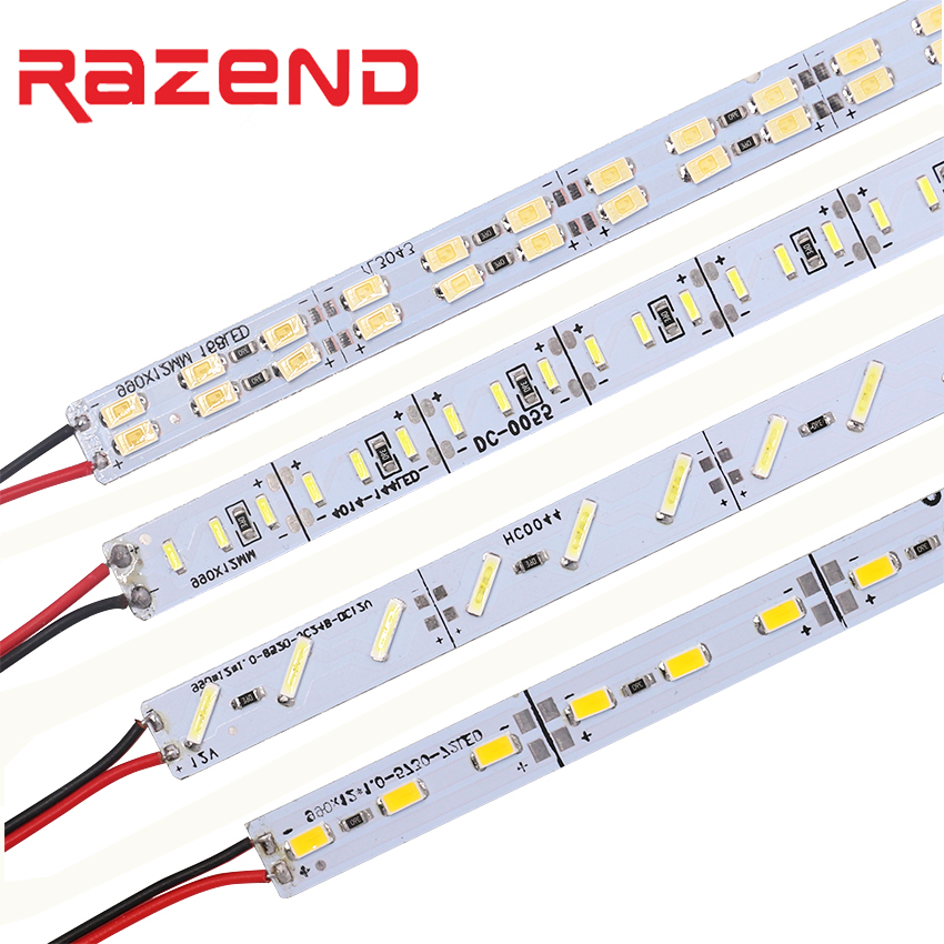 10pcs/lot 12V Hard LED strip aluminum bar light SMD 8520 4014 5630 led strip light 50cm 36leds 84leds 72leds Cold white