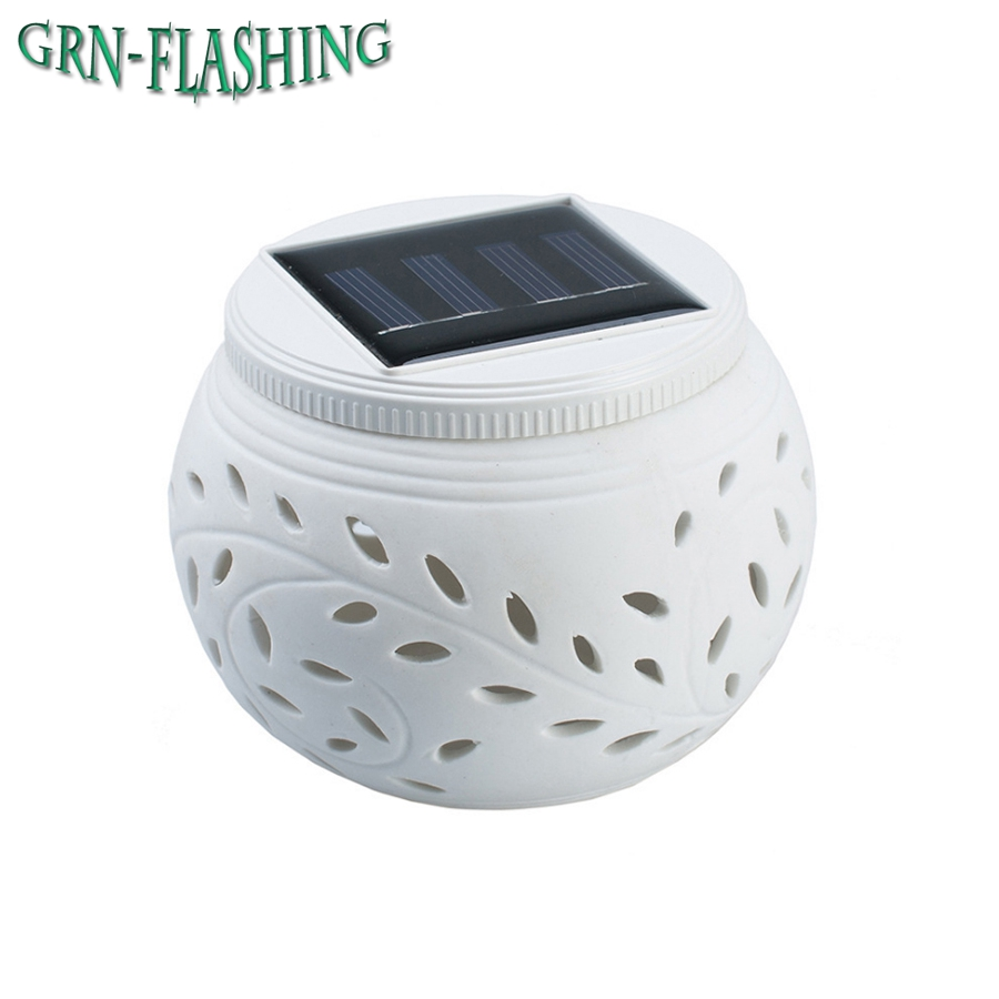 Solar Powered Ceramic LED Lamp Light Color Changing Table lamp Night Light for Festival Gifts Indoor Outdoor Decoration