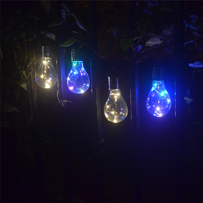 High Quality Waterproof Solar Rotatable Outdoor Garden Camping Hanging LED Light Lamp Bulb 15