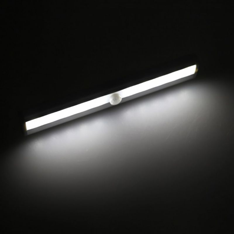 10 LED IR Infrared Motion Detector Wireless Sensor Lighting Closet Night USB Battery Recharging Lamp for Cabinet Wardrobe Light