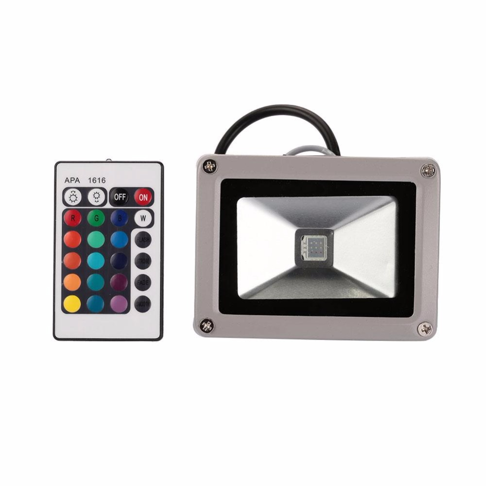 10W RGB RGB Color Changing Outdoor 9LED Flood Light Lamp w/Remote AC85-265V