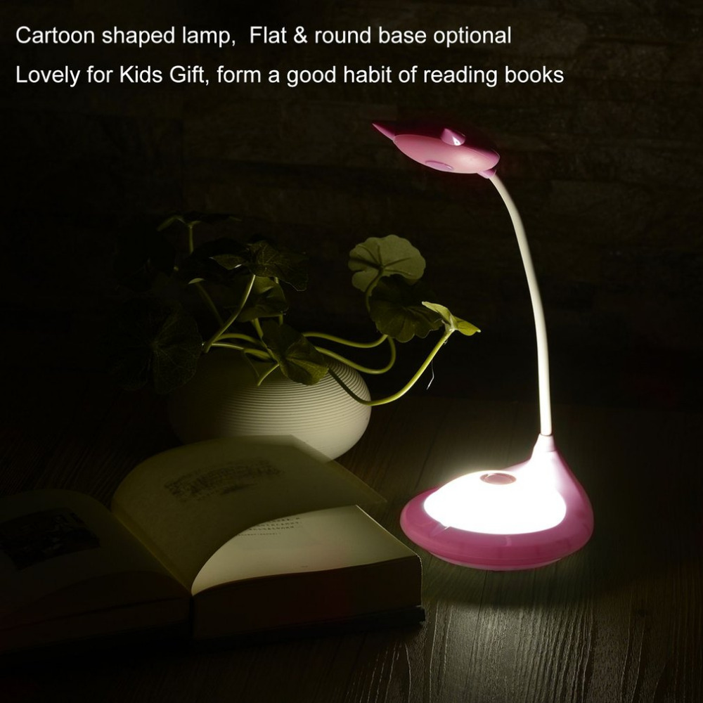 LED Lamp Eye-protection Table Lamp Touch Switch 3-level Dimmable Rechargeable Lithium 360 Degree Adjustmentable Body