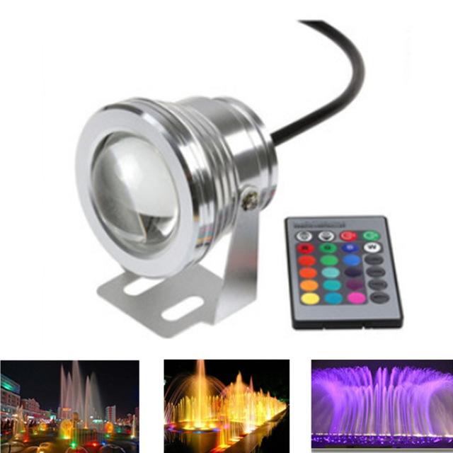 10w Black Body Underwater Led Lights Rgb 85-286v Underwater Led Lamp Flat Lens Underwater Pool Lights Excellent Quality In