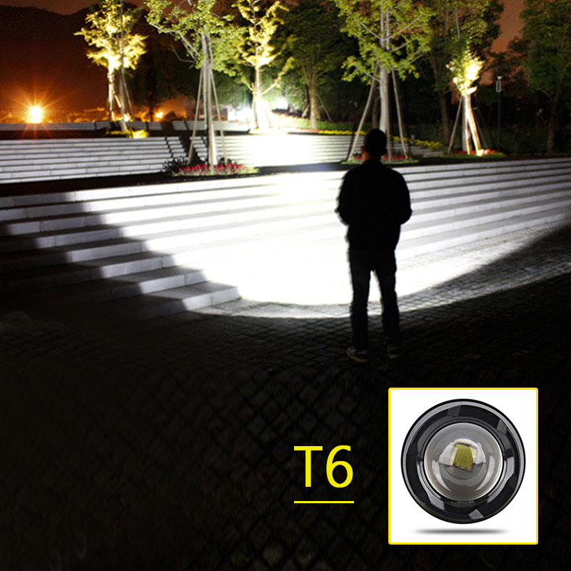 18650 Battery USB charging mode CREE T6 LED zoom flashlight air aluminum 3 mode mini lantern latest waterproof torch