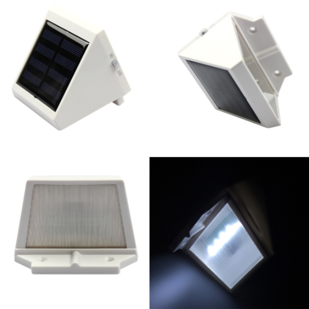 4PC LED Solar Power Light Wall Lamp Garden Outdoor Waterproof PIR Motion Sensor Solar Luminaria Panel Sunlight Energy Path Light