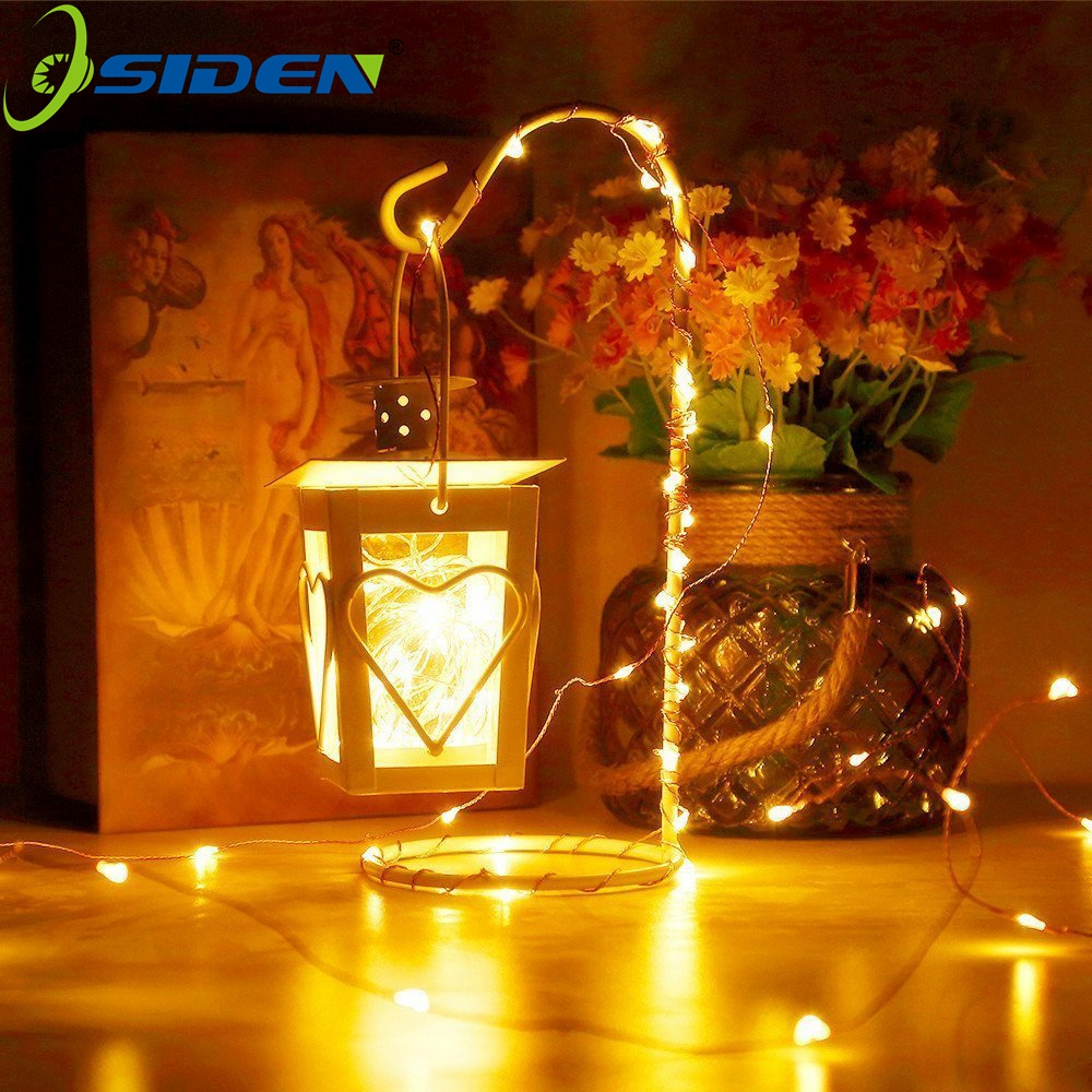 OSIDEN  Christmas String Light Battery Operated Long Ultra String Copper Wire Seasonal Decorative Holiday Wedding Battery Box