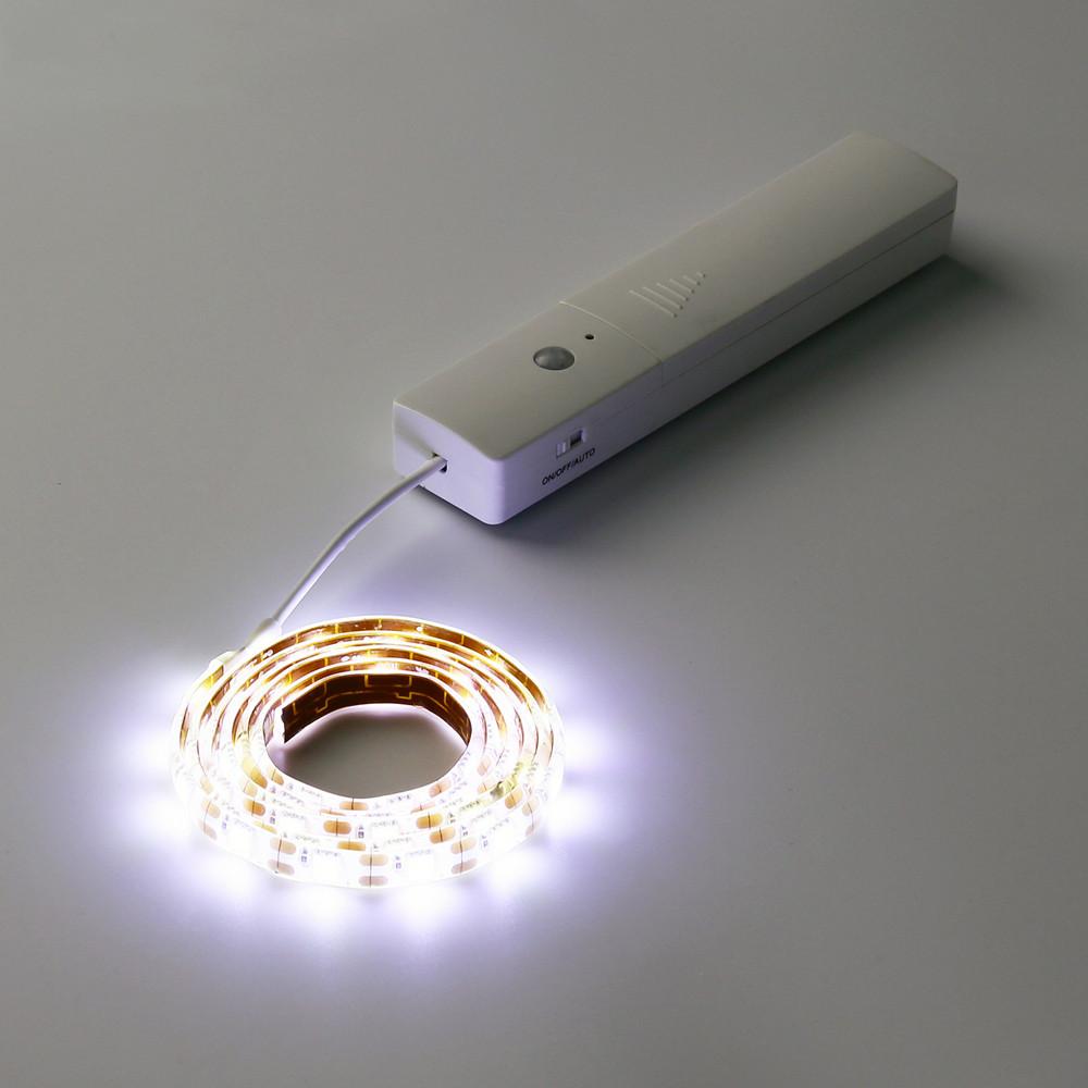 Battery Operated LED Strip Lights Wireless PIR Motion Sensor Hallway Closet SMT