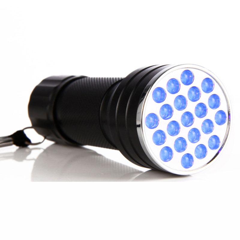 Ink Marker Blacklight 21 LED Detection UV Ultra Violet Portable Flashlight Torch
