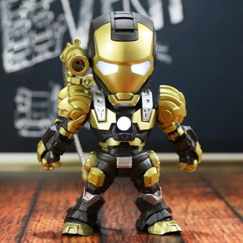 15cm Glowing Armor Iron Man Action Figure Marvel The Avengers Robot Ironman Patriot Model Toy Boy Gift Collectibles
