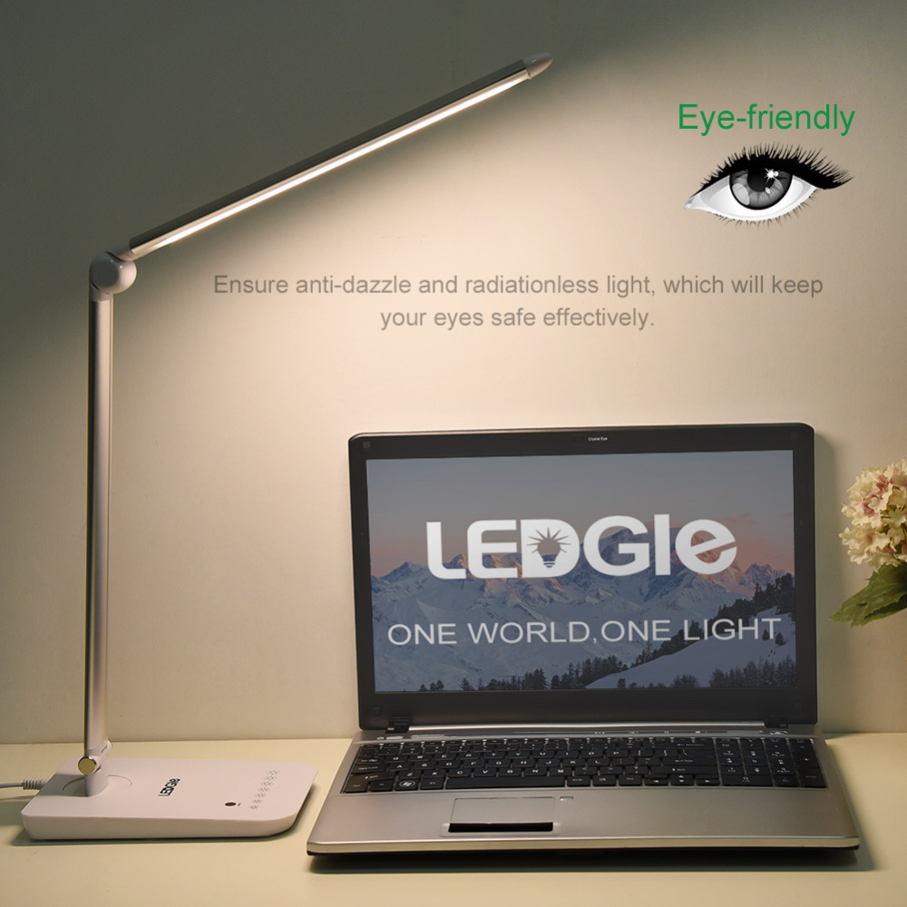 LEDGLE High quality Foldable Desk Lamps High quality Rechargeable Table Light Office Reading Touch Dimmer Lamps LED Light Table