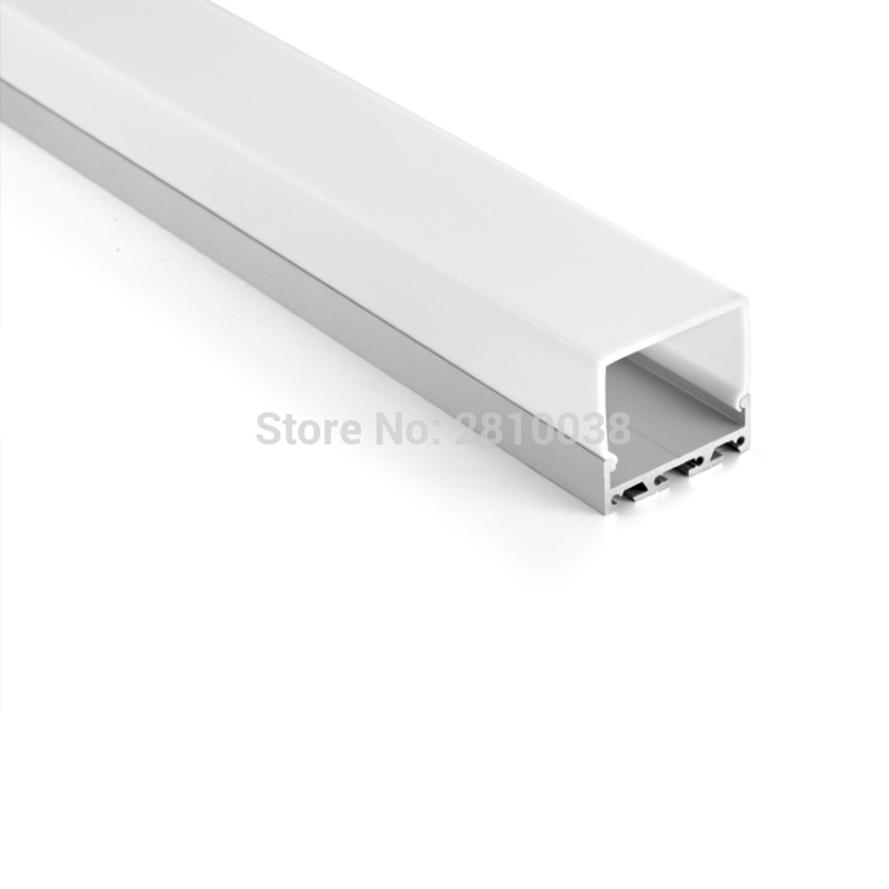 10 X1 M Sets/Lot T3-T8 tempered aluminium profile for led strips and U channel extrusion for ceiling or wall lights