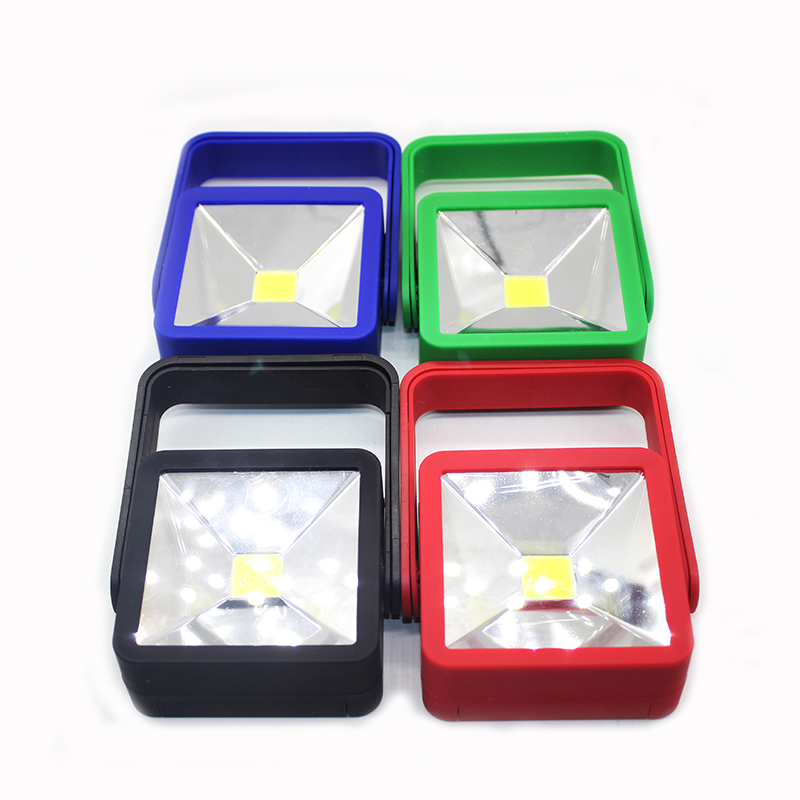 Portable Flashlight  Sport Magnetic Square for Camping Hiking Magnet Lamp+mini torch COB Handlight Hook Light Outdoor