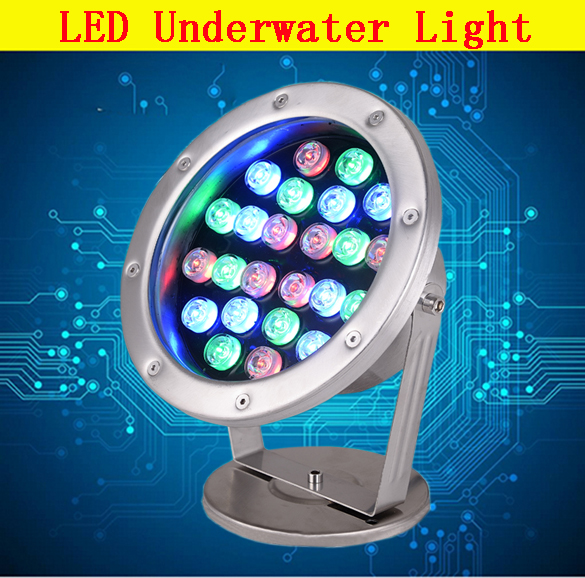 DC12V waterproof IP68 Epistar led underwater light for swimming pool pond fountain 3W 6W 18W 36W LED Underwater Lights DMX Lamp