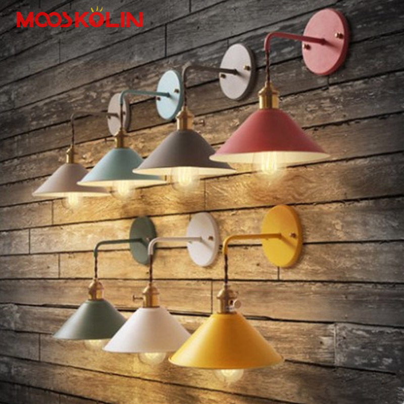 Led Lamps Vintage Wall Lamp Retro Loft Led Wall Light Plated Industrial Lamparas De Pared Stair Bathroom Iron Wall Sconce Abajur Luminaria