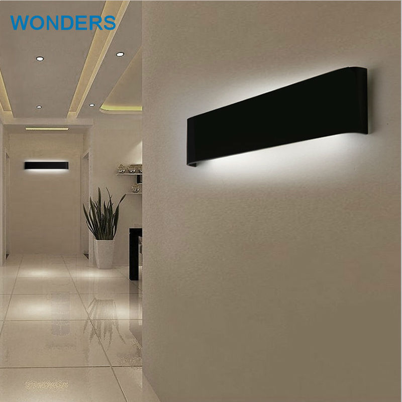 Modern 14cm-56cm Long Aluminum LED Wall Lamps for living room bathroom Decoration Sconce mirror Light 90-260V lamparas de pared