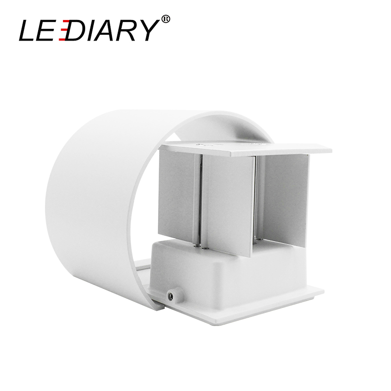 LEDIARY Modern LED Wall Lamp Round 110-240V 6W 12W Waterproof IP44 Balcony Lights Two Ways Light Outdoor Sconce Angle Adjustable