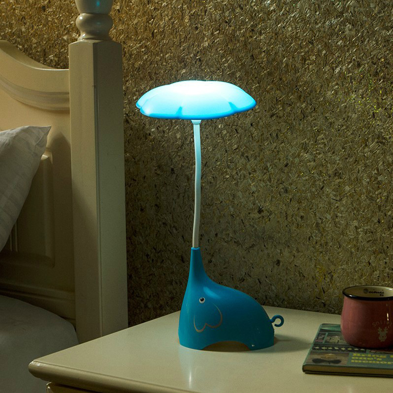 New Design Led Bedside Table Lamps Touch Sensor Adjustable Brightness Night Light with USB Charging Port