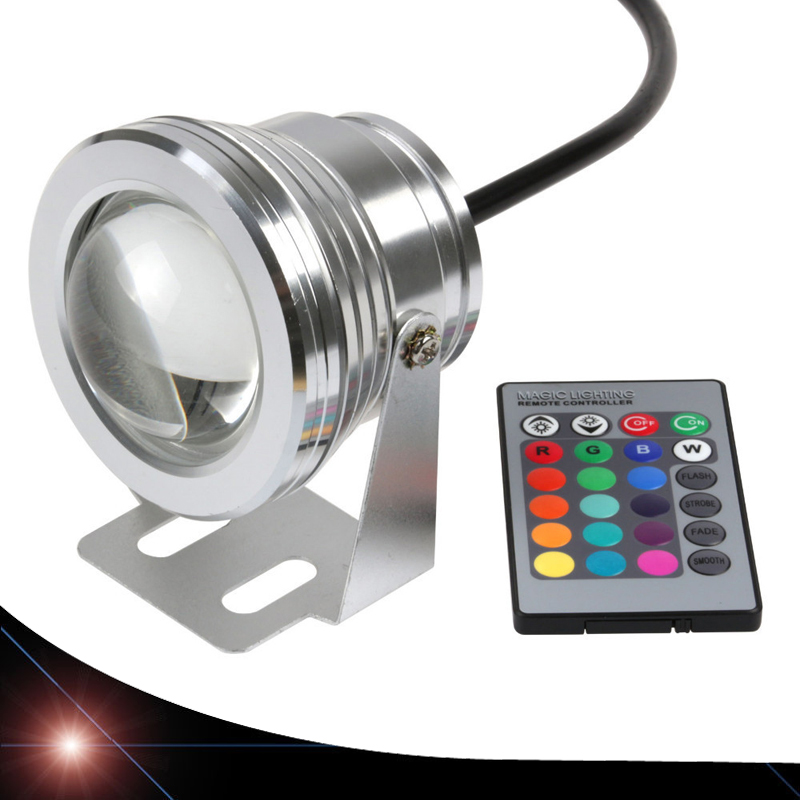 2X 10W 12V LED Underwater Light Waterproof IP65 RGB Landscape Pool Pond Lamp 16 Colors Change With IR Remote
