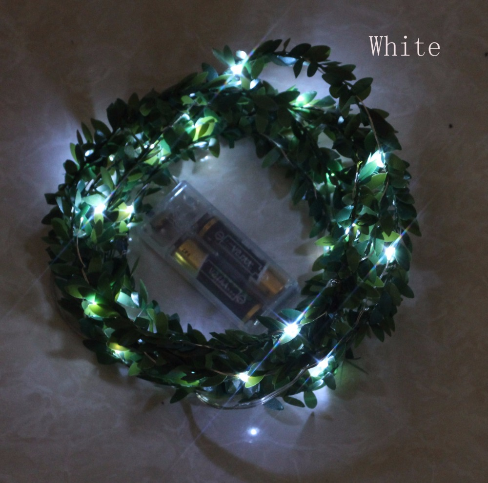 10 M 100 led leaf garland battery operated copper string lights for   christmas room holiday birthday party wedding decoration