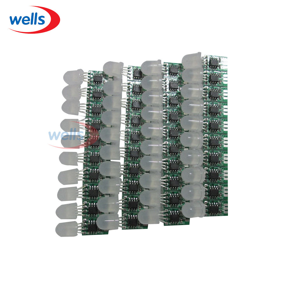 50pcs Non-waterproof 8mm WS2811 Pixel node Module Light No Wire Addressable 5V