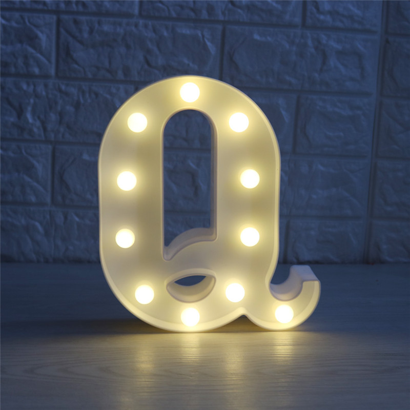 New Letters High Quality White 3d LED Night Light Marriage Birthday Party DIY Decoration Light Creative Night light Wall Lamp