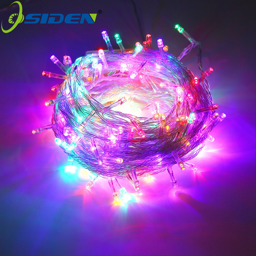 Outdoor waterproof Christmas Light 220V/110V 50M 500LED rgb Warm White  MultiColor String Lights for Christmas party wedding