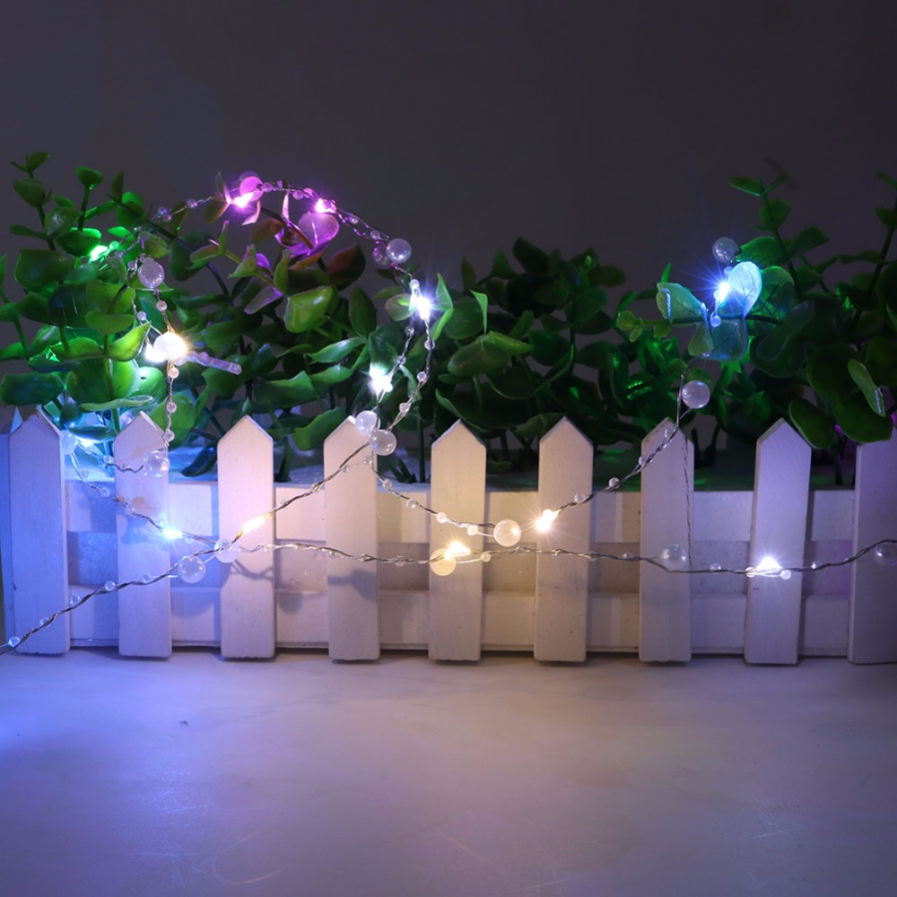 USB Powered 40 LEDs Pearl string lights Fairy Lights White/Warm white/Colorful light for Wedding Home Christmas Party Decoration