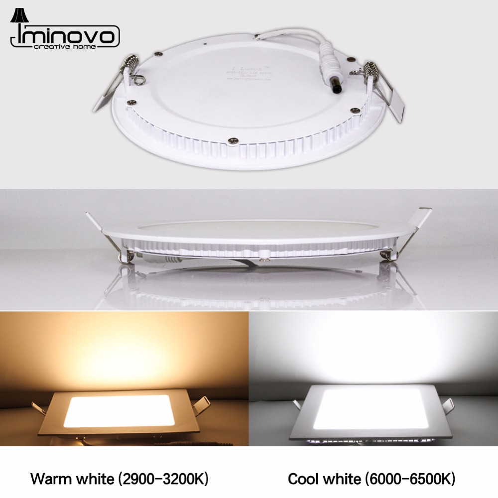 IMINOVO Round LED Panel Light 3W 12W 15W 18W 24W Downlight Ceiling Lamp AC 110V 220V Indoor Surface Mounted Lighting Living Room