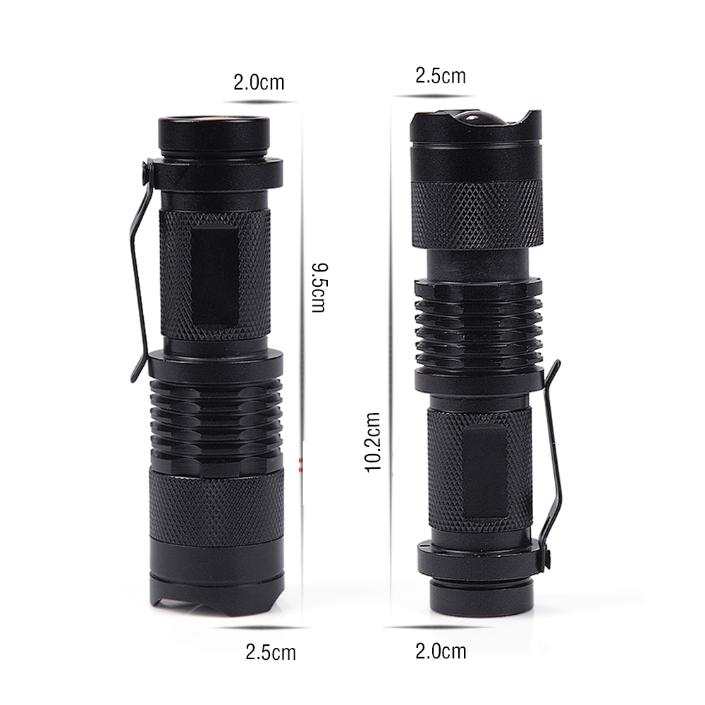 Portable Mini Penlight LED Flashlight CREE Q5 2000LM Torch Pocket Light Waterproof Lantern 14500 Battery Powerful Led Hunting