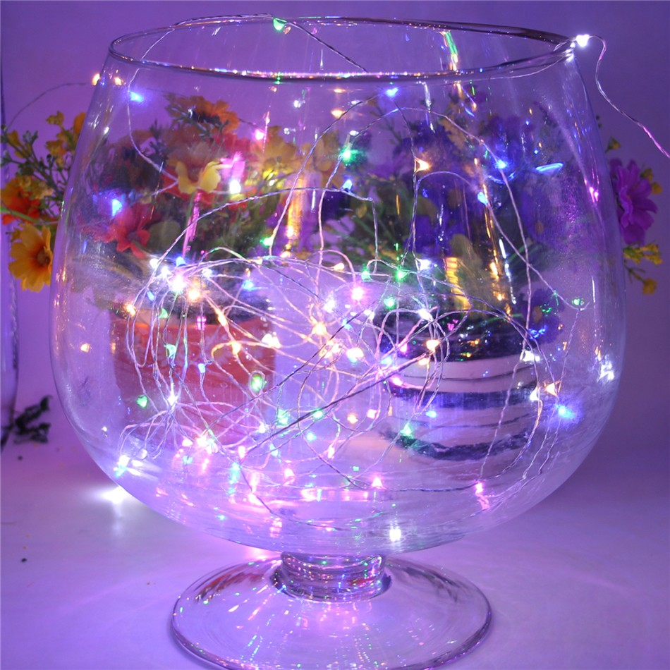 Multi Color 120 Led Solar Lamp Powered String Led Lights Outdoor RGB Copper Wire Christmas Festival Wedding Party Decoration