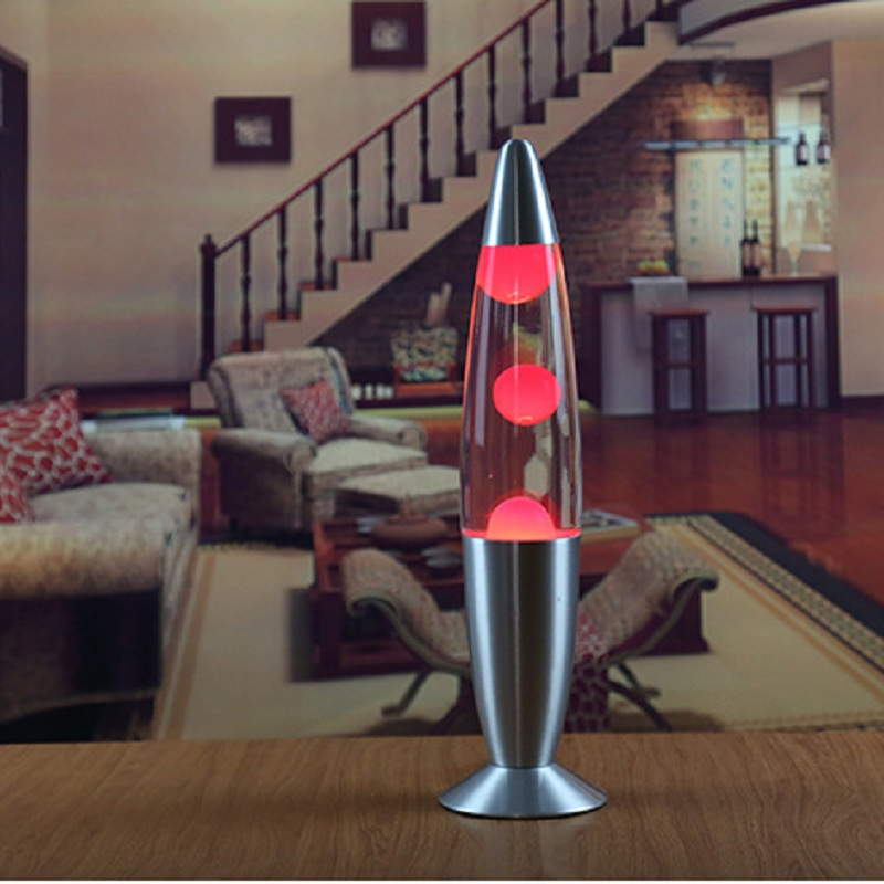 2017 Night lamp Metal base Wax lamp volcanic Lava melt light decoration light Jellyfish light Dazzling Lava lamp light IY303173