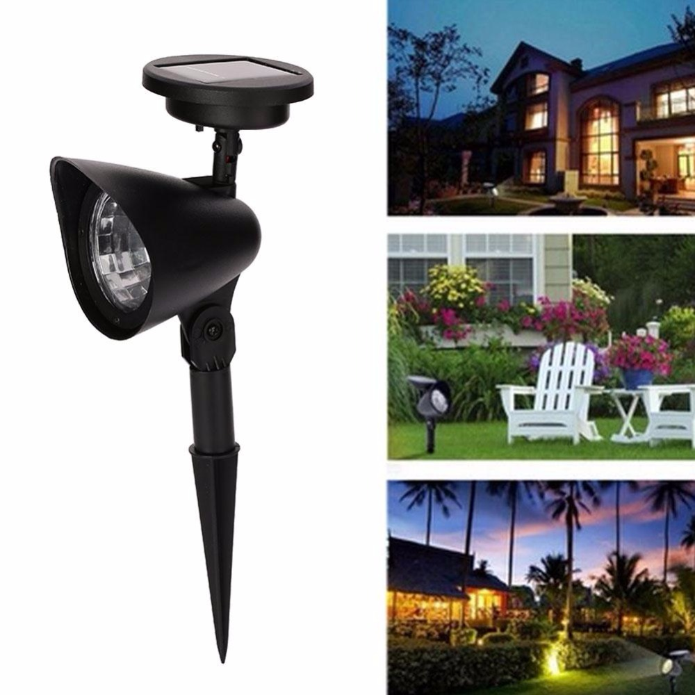 4-LED Waterproof  IP44 Solar Garden Lawn Lights Walkway Path Landscape Patio Yard Path Pond Spotlight Outdoor Lighting
